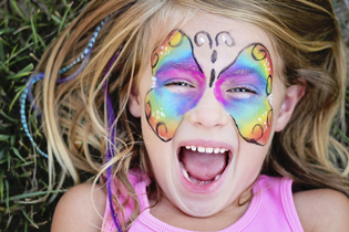 Come and visit our face painter at the charity gift fair